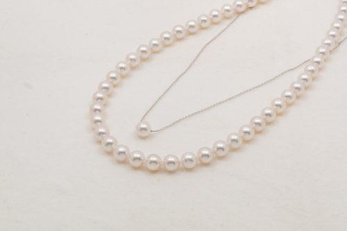 2020年スプリングフェアのために用意した限定9セットの特別価格7.5~8.0mmアコヤ真珠ネックレスとペンダントのセットの写真